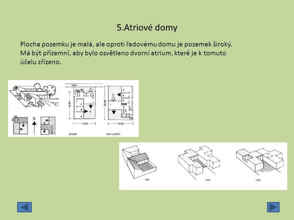5.Atriové domy