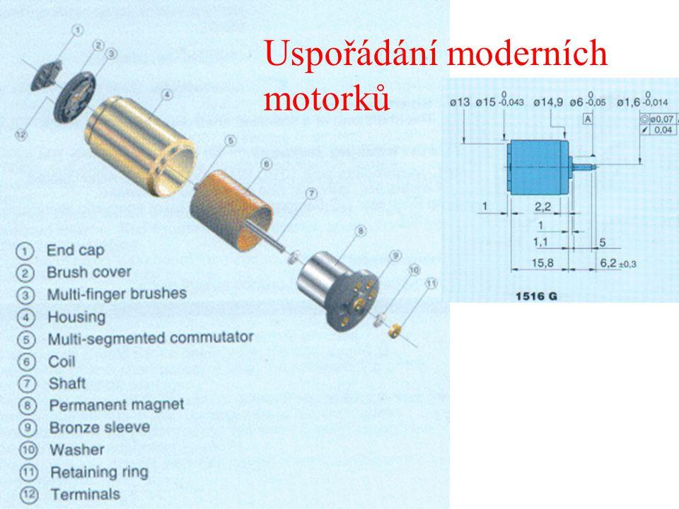 Uspořádání moderních motorků