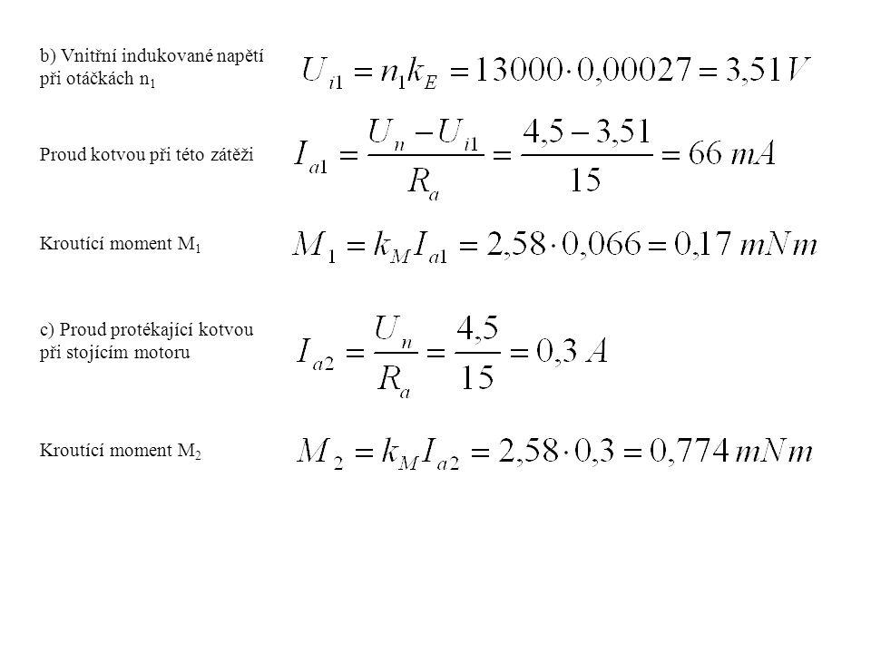 b) Vnitřní indukované napětí při otáčkách n1
