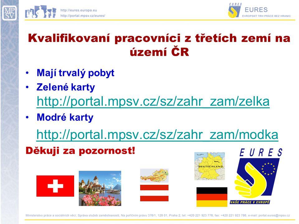 Kvalifikovaní pracovníci z třetích zemí na území ČR
