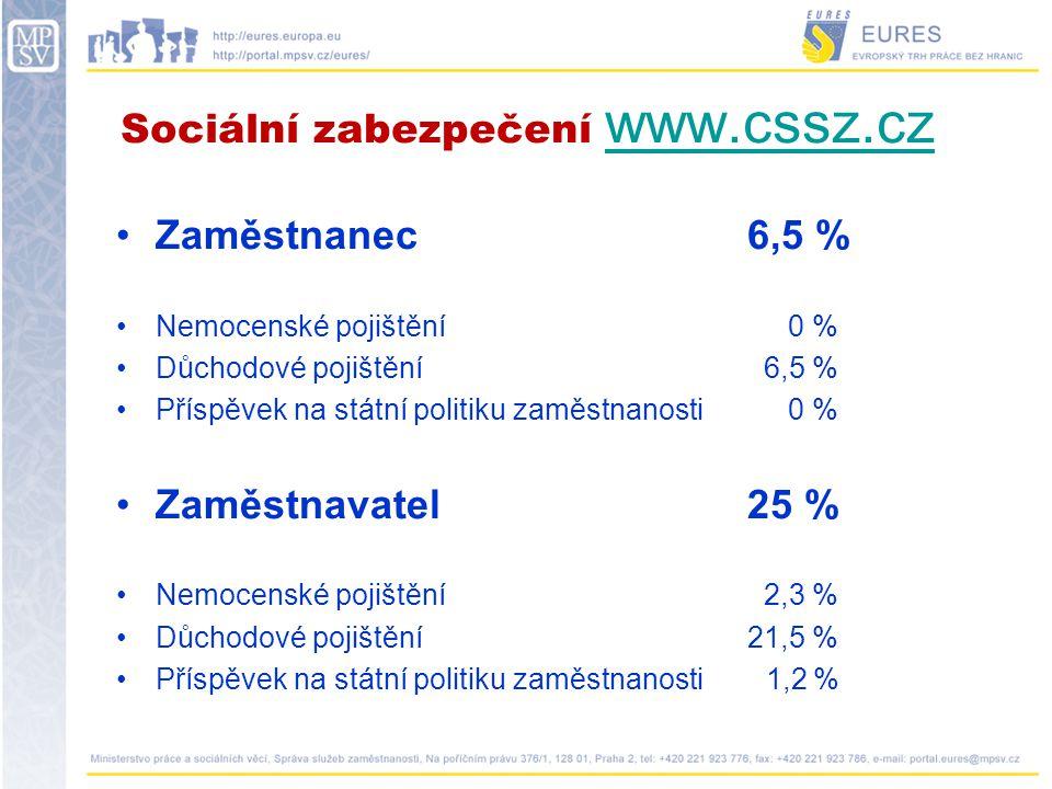 Sociální zabezpečení www.cssz.cz