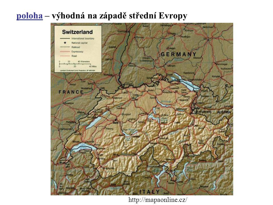 poloha – výhodná na západě střední Evropy