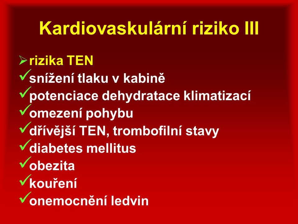 Kardiovaskulární riziko III