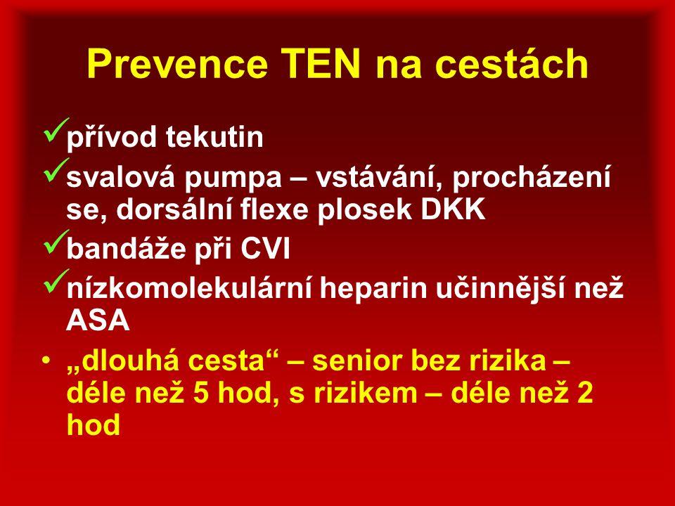 Prevence TEN na cestách