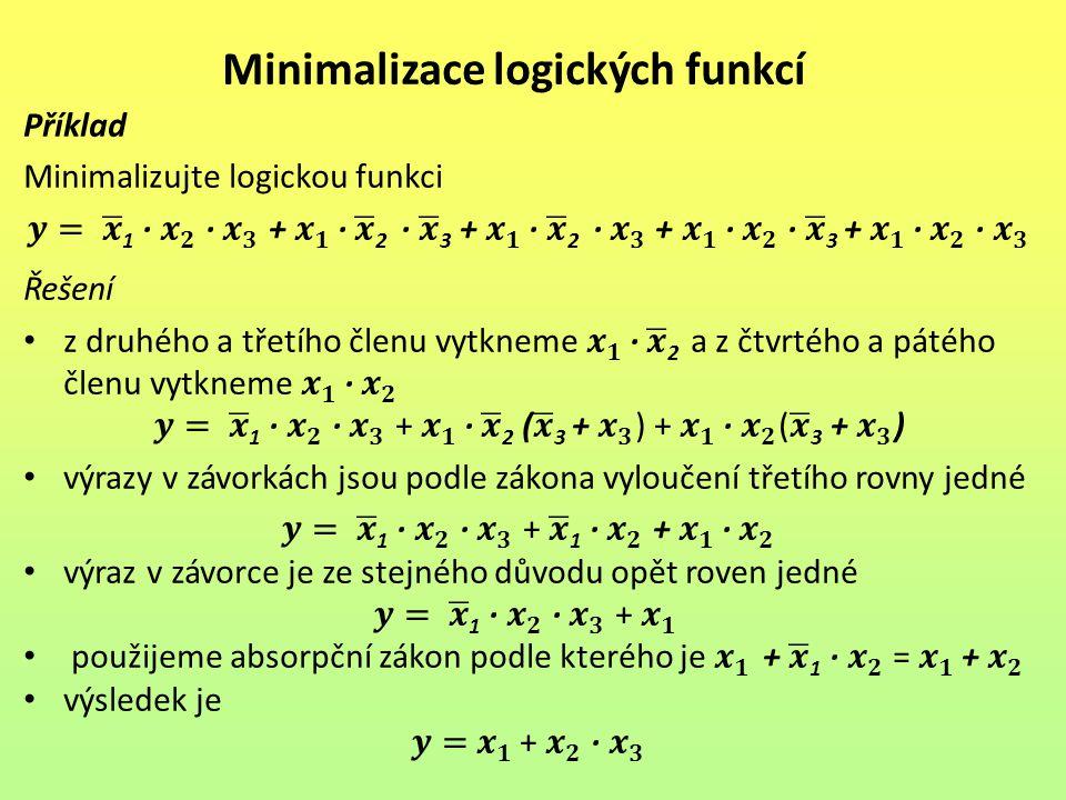 Minimalizace logických funkcí