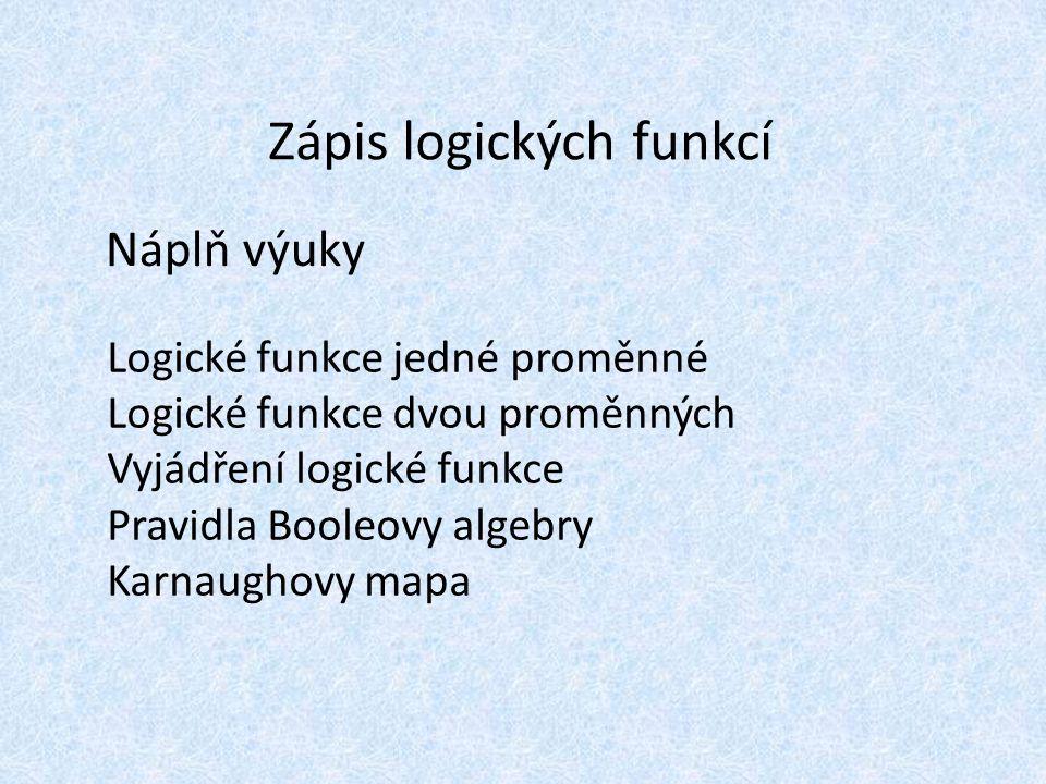 Zápis logických funkcí