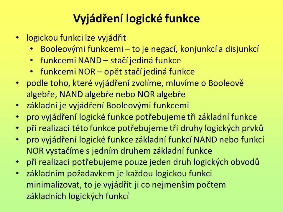 Vyjádření logické funkce