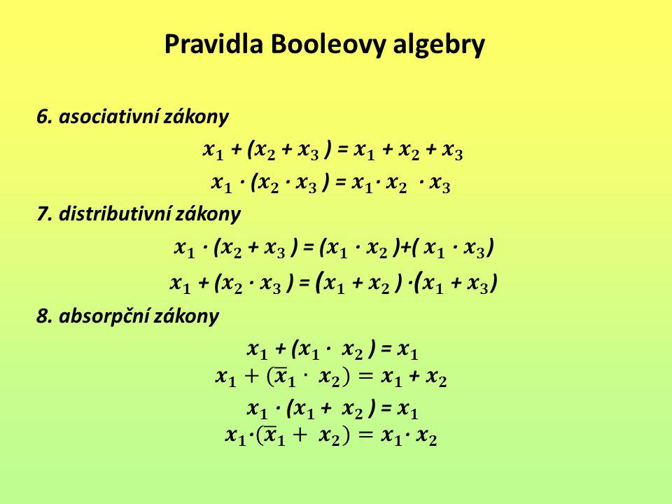 Pravidla Booleovy algebry
