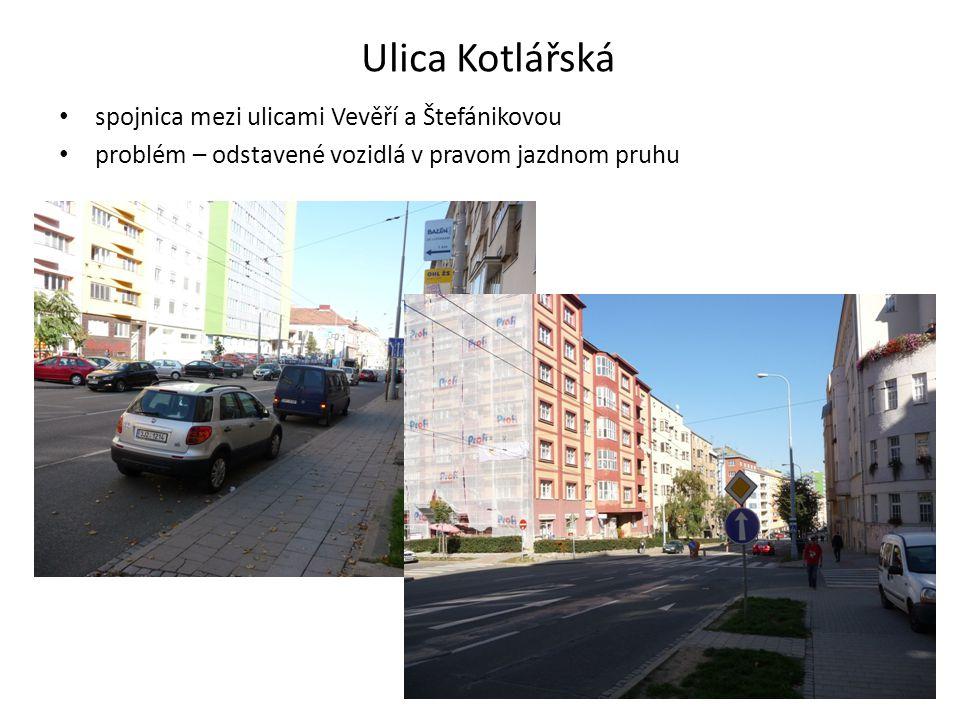 Ulica Kotlářská spojnica mezi ulicami Vevěří a Štefánikovou