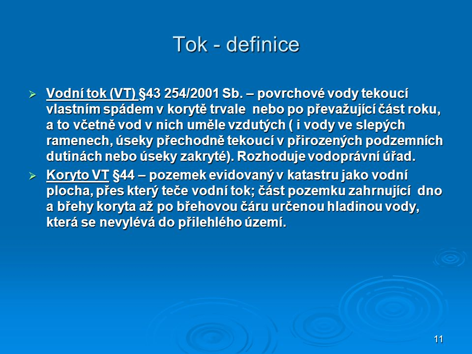 Tok - definice