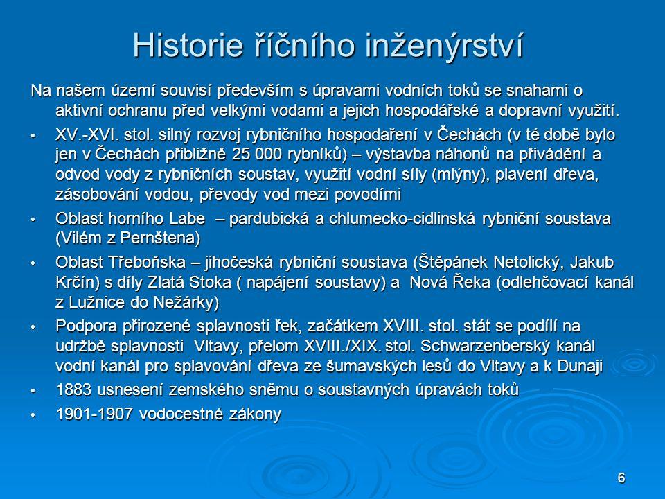 Historie říčního inženýrství