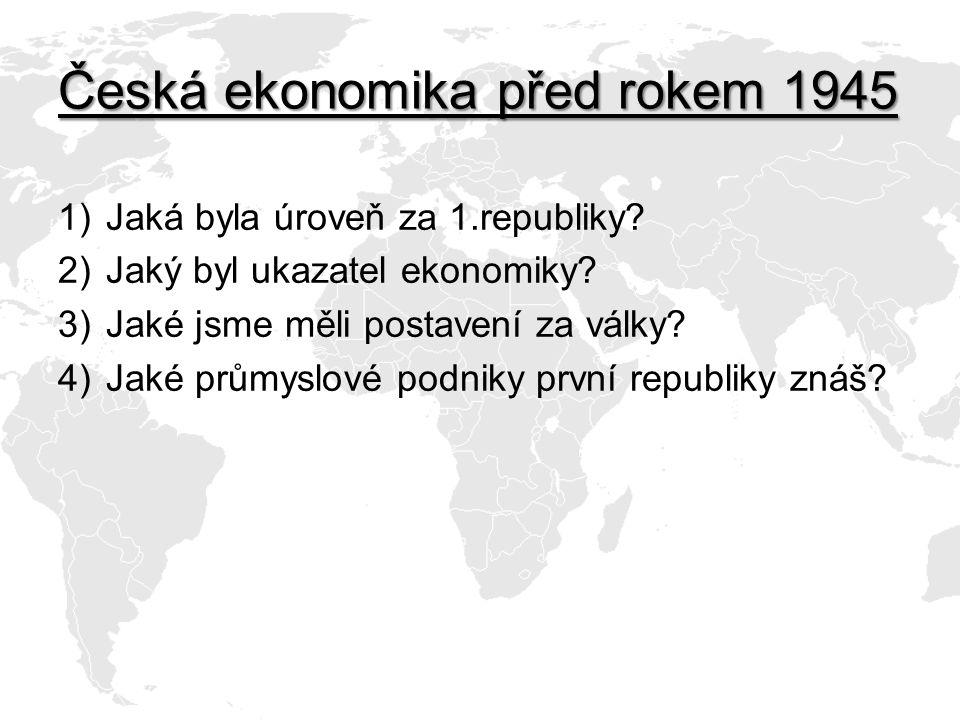 Česká ekonomika před rokem 1945