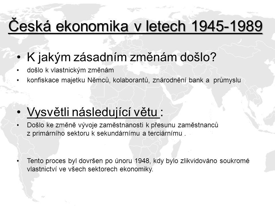 Česká ekonomika v letech 1945-1989