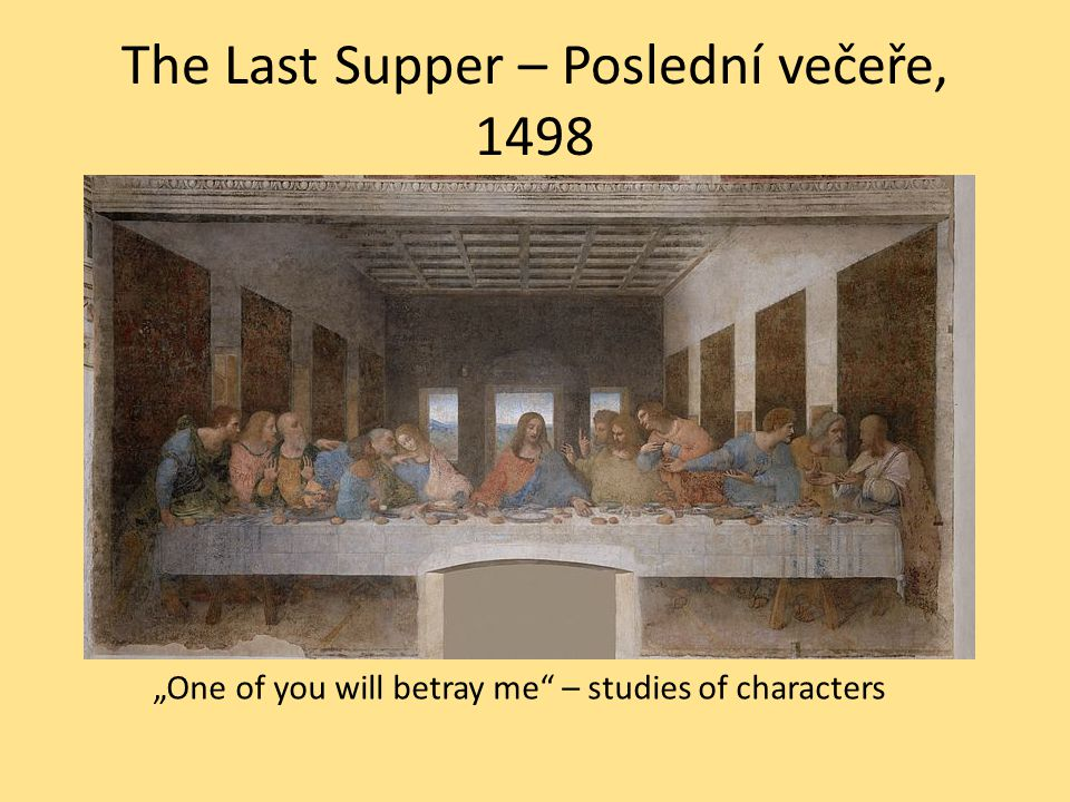 The Last Supper – Poslední večeře, 1498