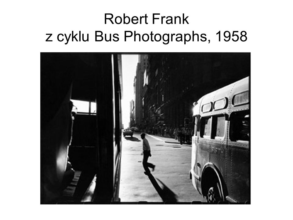Robert Frank z cyklu Bus Photographs, 1958