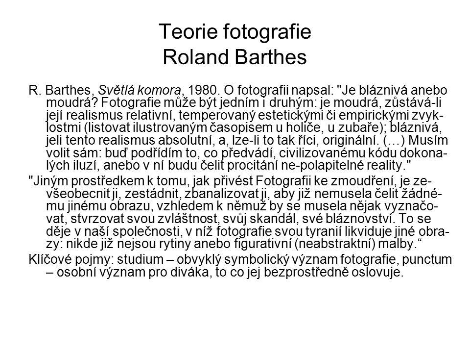 Teorie fotografie Roland Barthes