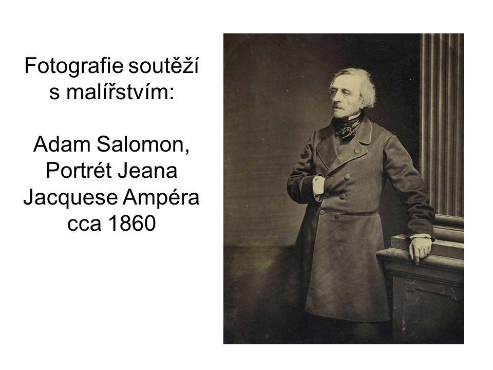 Fotografie soutěží s malířstvím: Adam Salomon, Portrét Jeana Jacquese Ampéra cca 1860