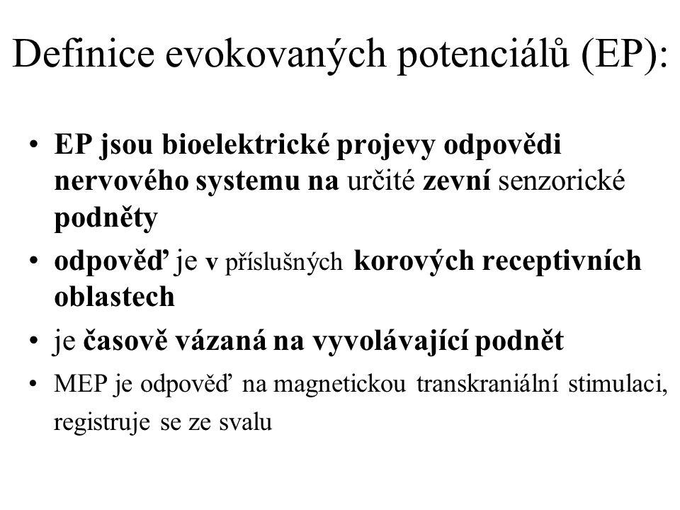 Definice evokovaných potenciálů (EP):