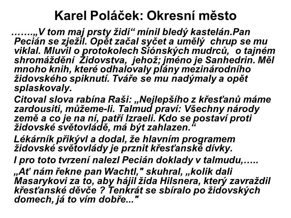 Karel Poláček: Okresní město