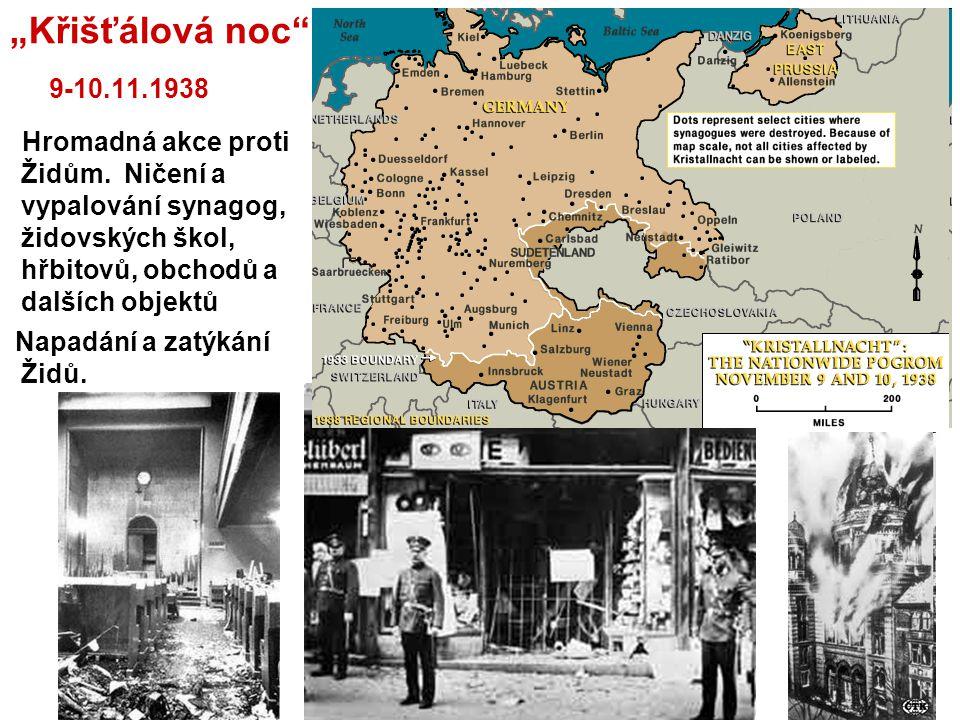 """""""Křišťálová noc 9-10.11.1938"""
