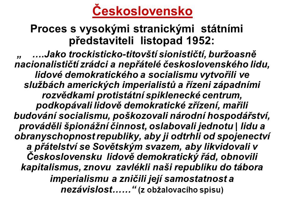 Proces s vysokými stranickými státními představiteli listopad 1952: