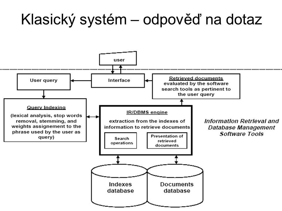 Klasický systém – odpověď na dotaz