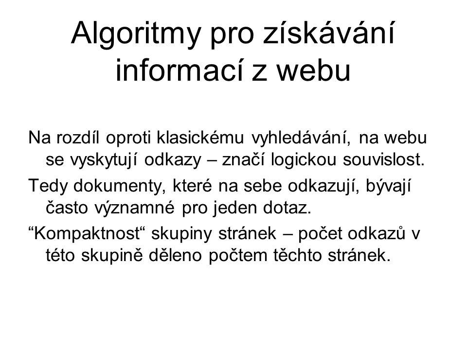 Algoritmy pro získávání informací z webu