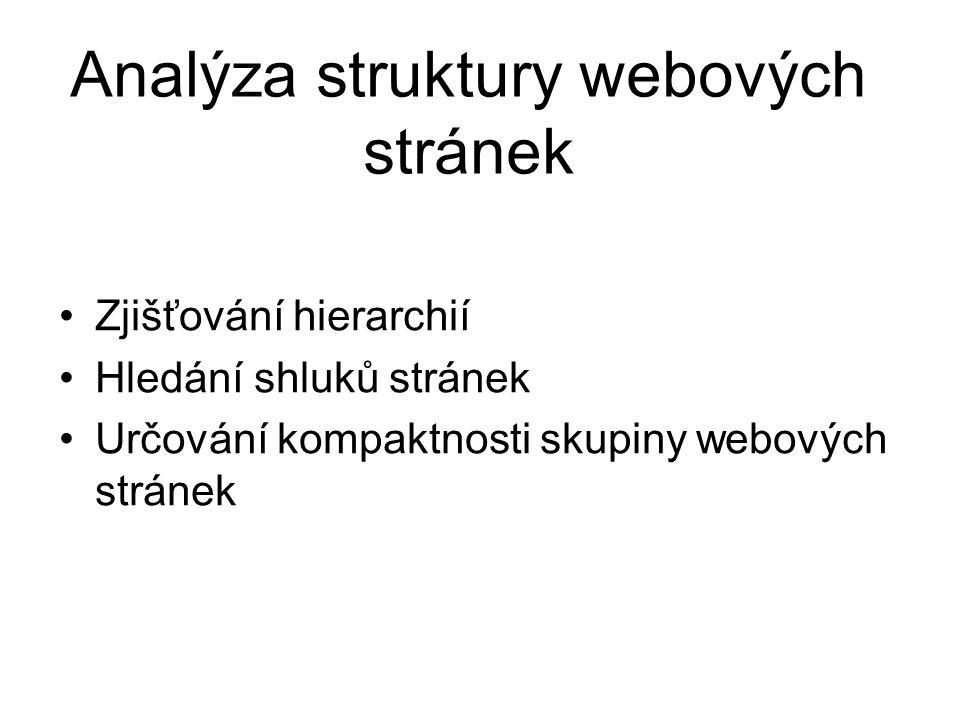 Analýza struktury webových stránek