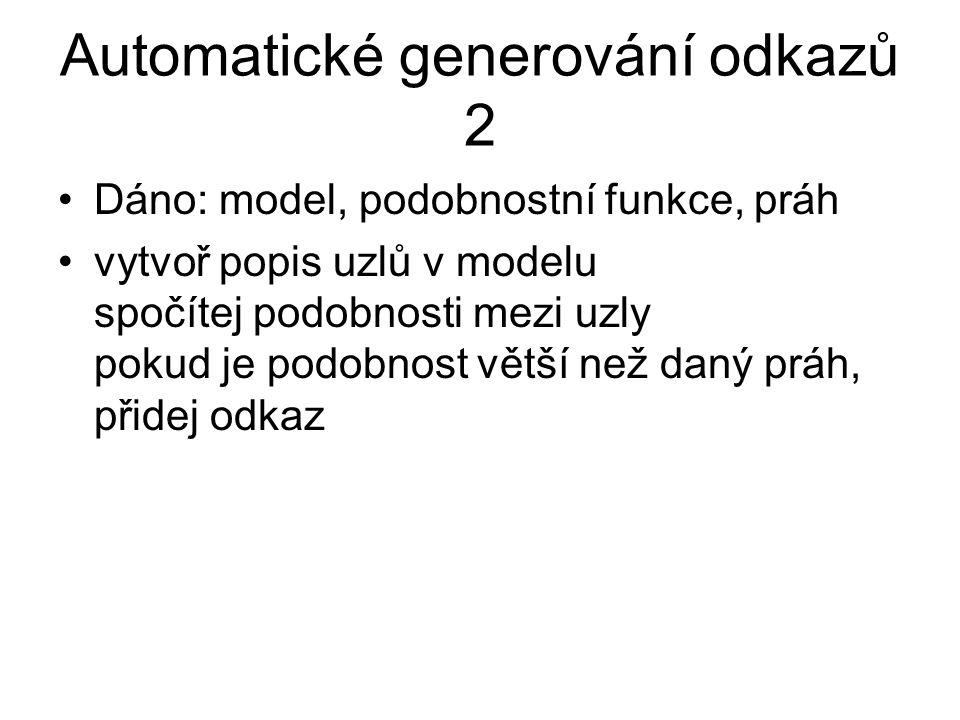 Automatické generování odkazů 2