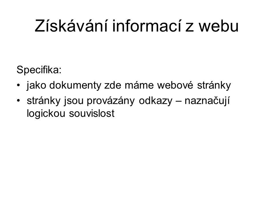 Získávání informací z webu