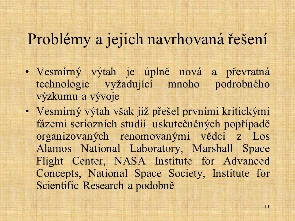 Problémy a jejich navrhovaná řešení