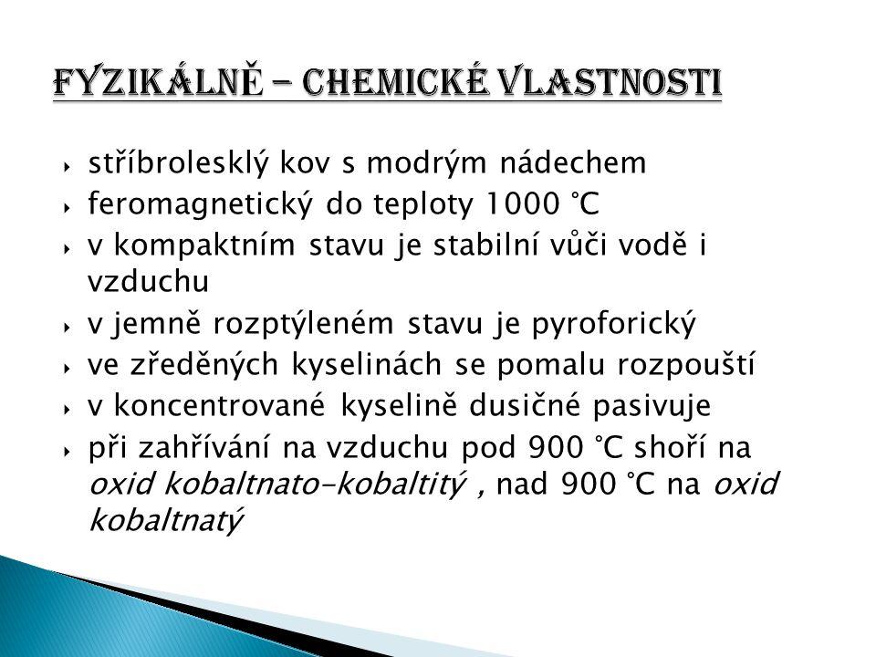 FyzikálnĚ – chemické vlastnosti