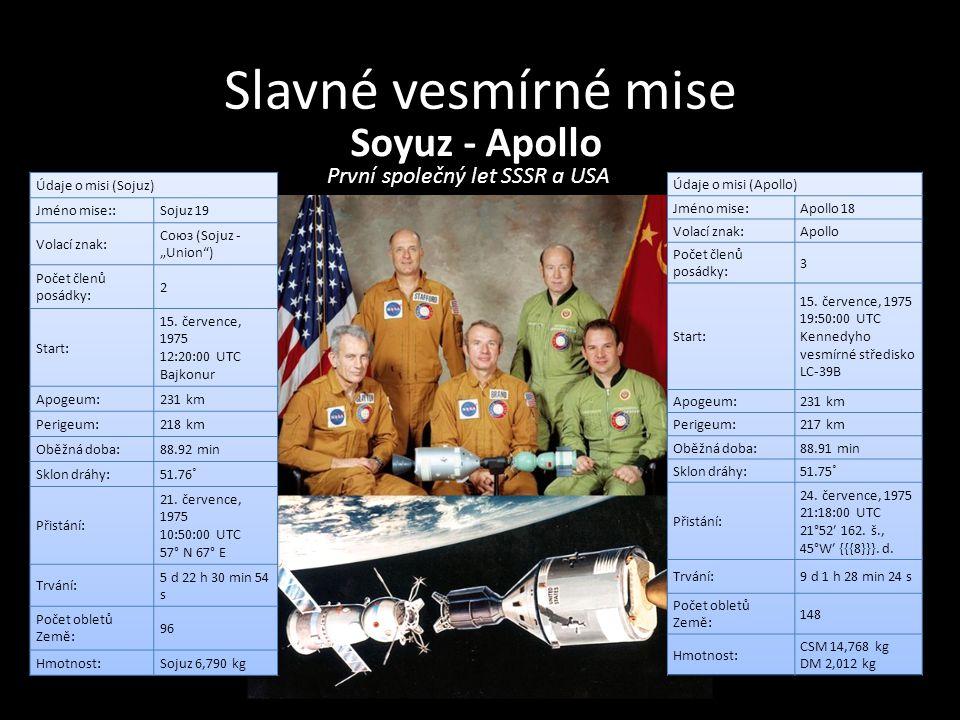 První společný let SSSR a USA