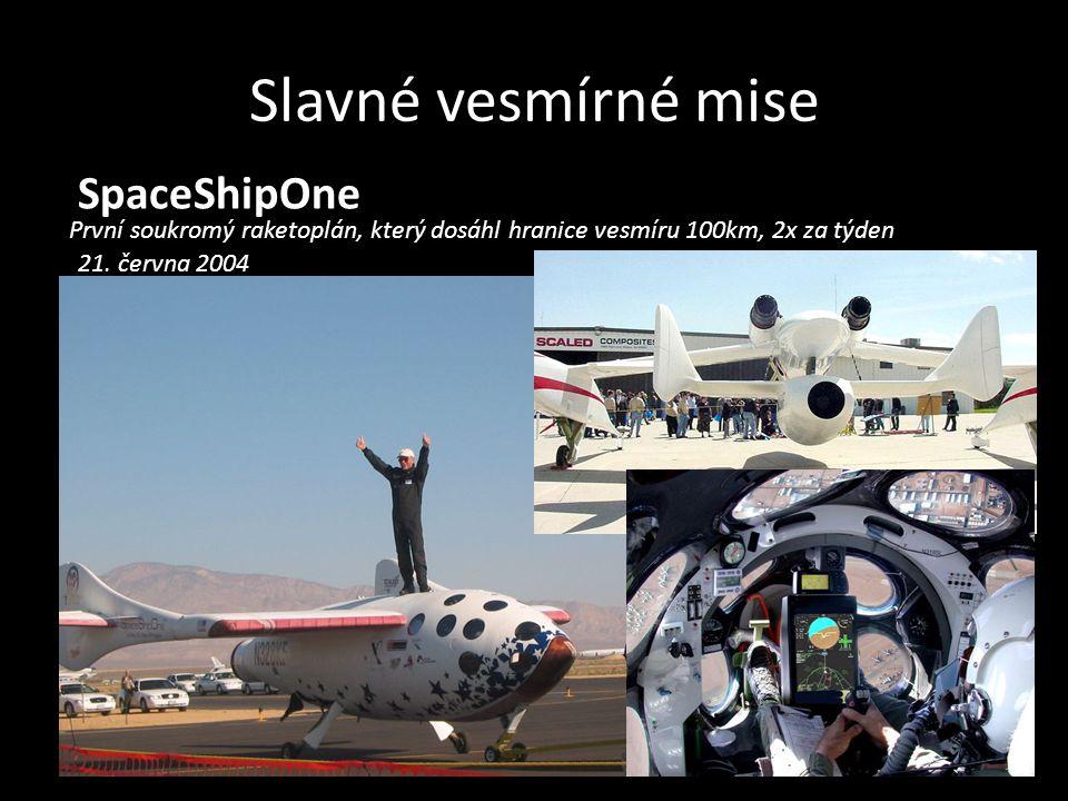 Slavné vesmírné mise SpaceShipOne
