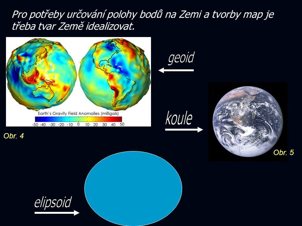 Pro potřeby určování polohy bodů na Zemi a tvorby map je třeba tvar Země idealizovat.
