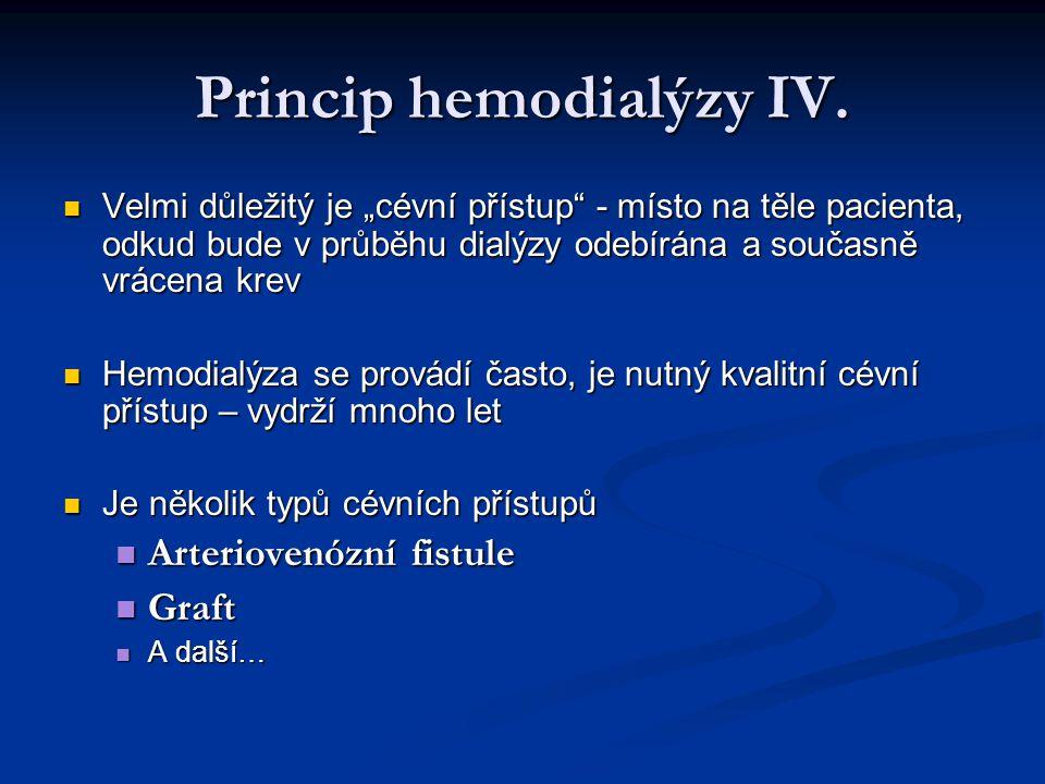 Princip hemodialýzy IV.