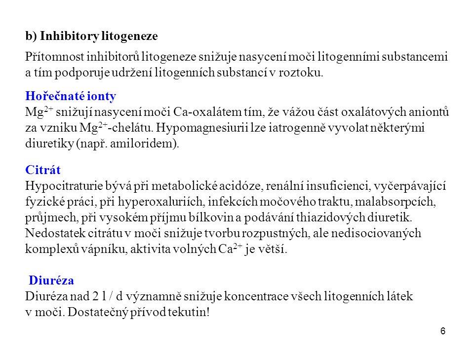 b) Inhibitory litogeneze