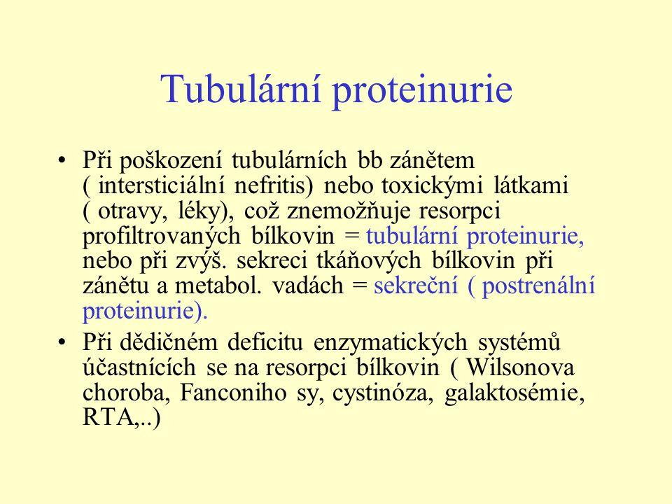 Tubulární proteinurie