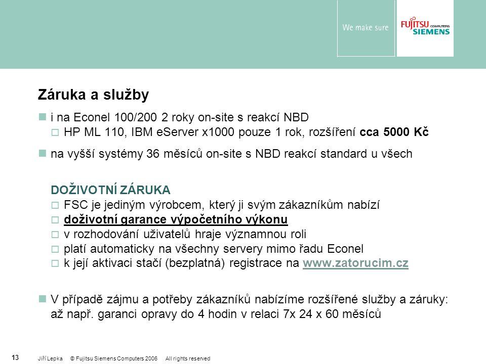 Záruka a služby i na Econel 100/200 2 roky on-site s reakcí NBD