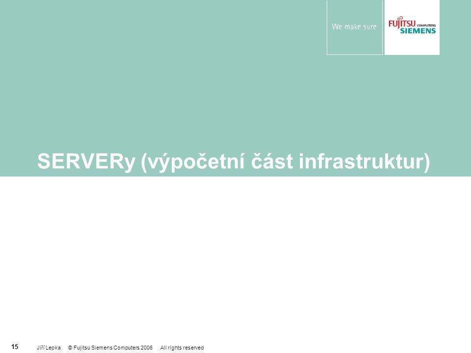 SERVERy (výpočetní část infrastruktur)