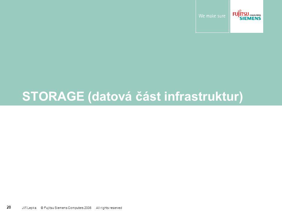 STORAGE (datová část infrastruktur)