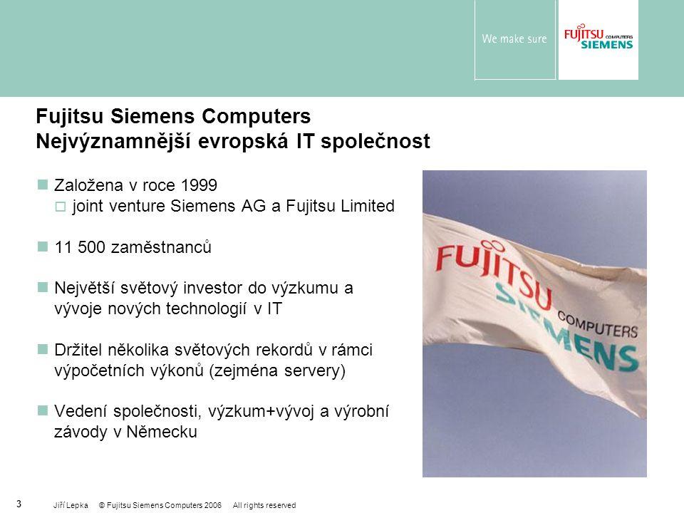 Fujitsu Siemens Computers Nejvýznamnější evropská IT společnost