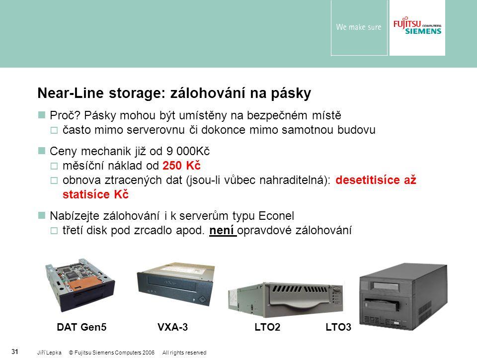 Near-Line storage: zálohování na pásky