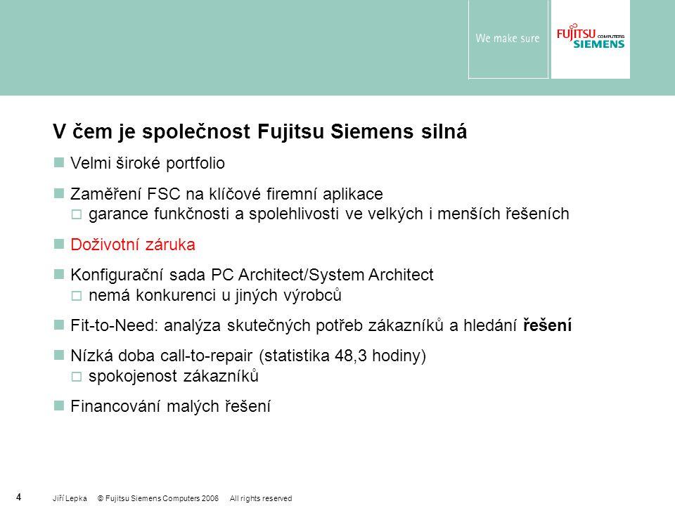 V čem je společnost Fujitsu Siemens silná