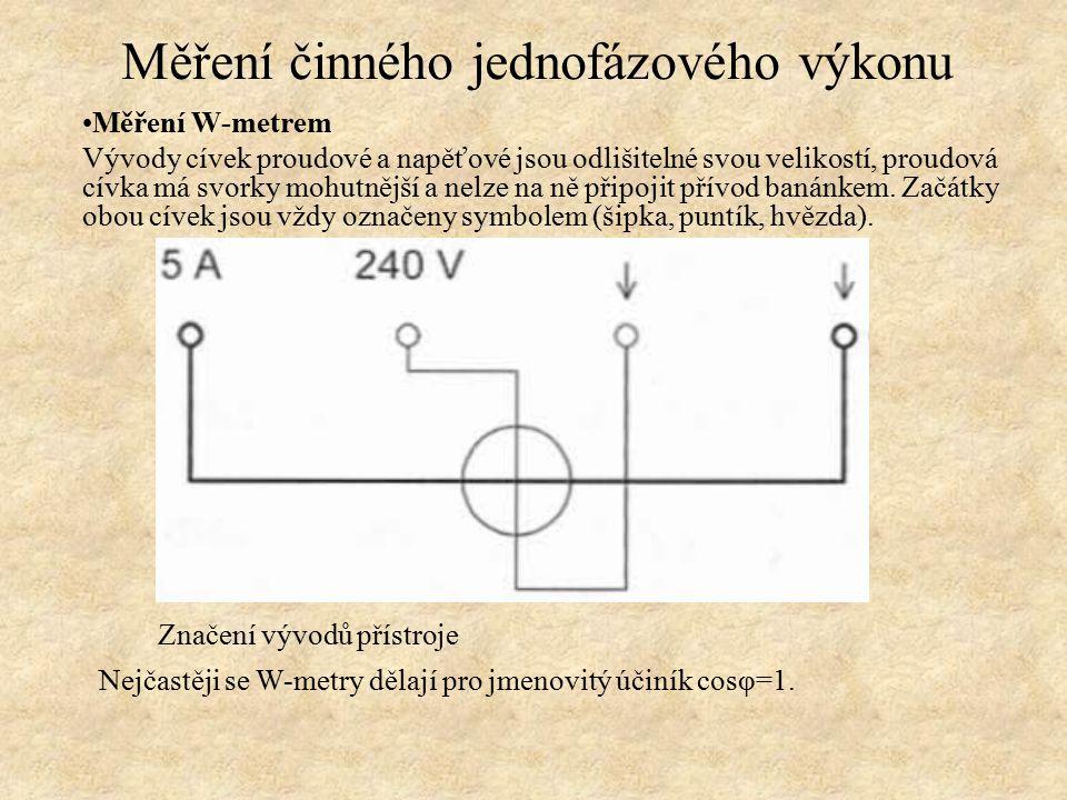 Měření činného jednofázového výkonu