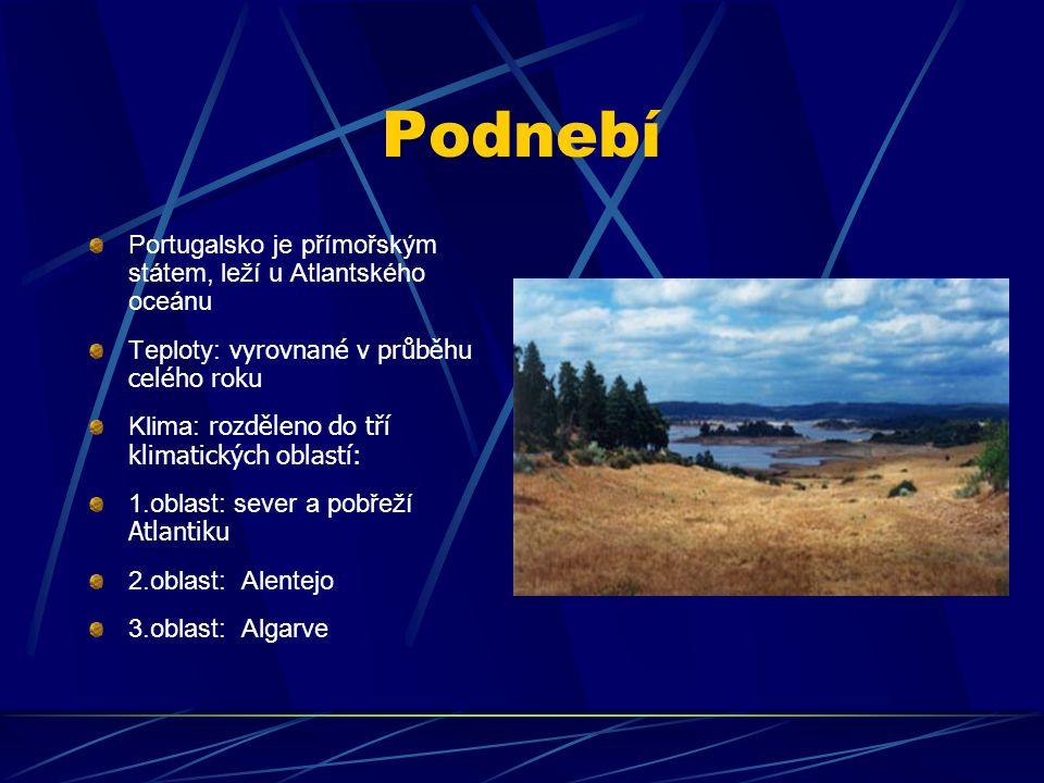 Podnebí Portugalsko je přímořským státem, leží u Atlantského oceánu