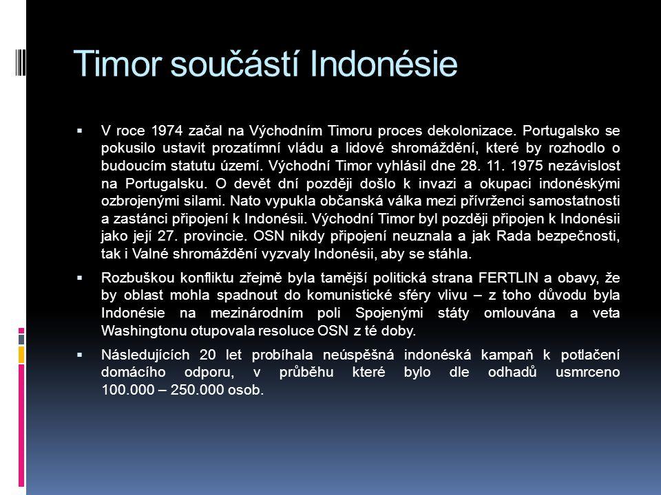 Timor součástí Indonésie