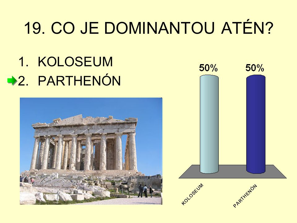 19. CO JE DOMINANTOU ATÉN KOLOSEUM PARTHENÓN