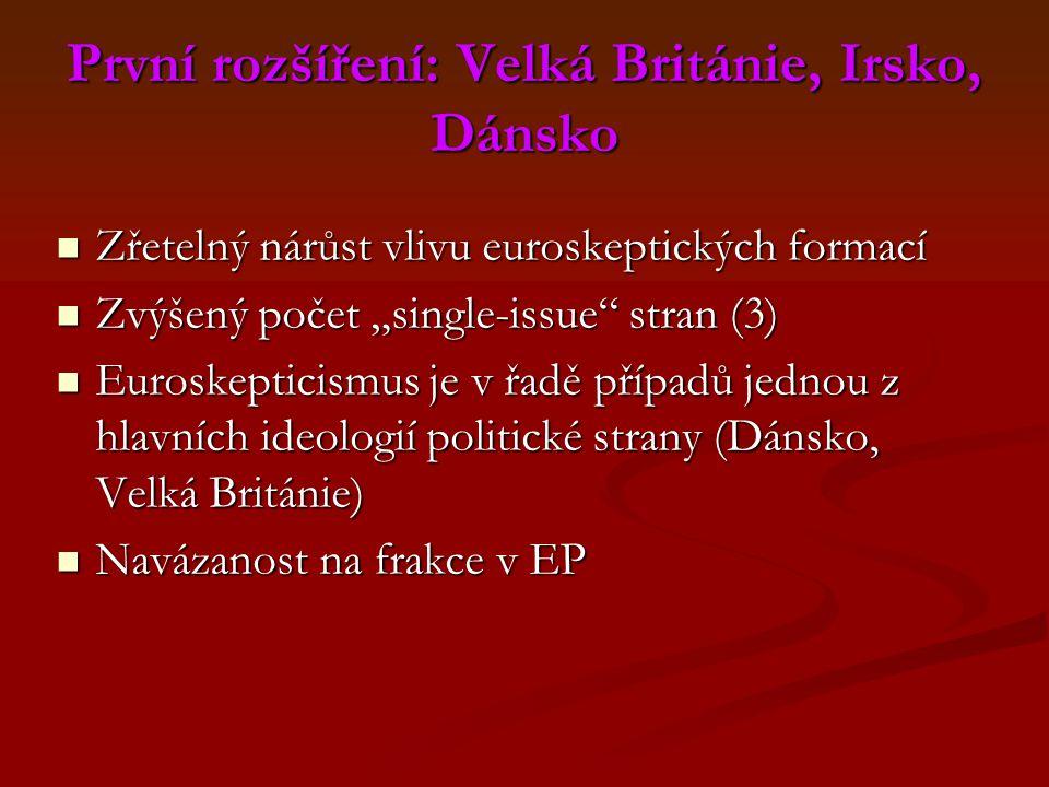 První rozšíření: Velká Británie, Irsko, Dánsko