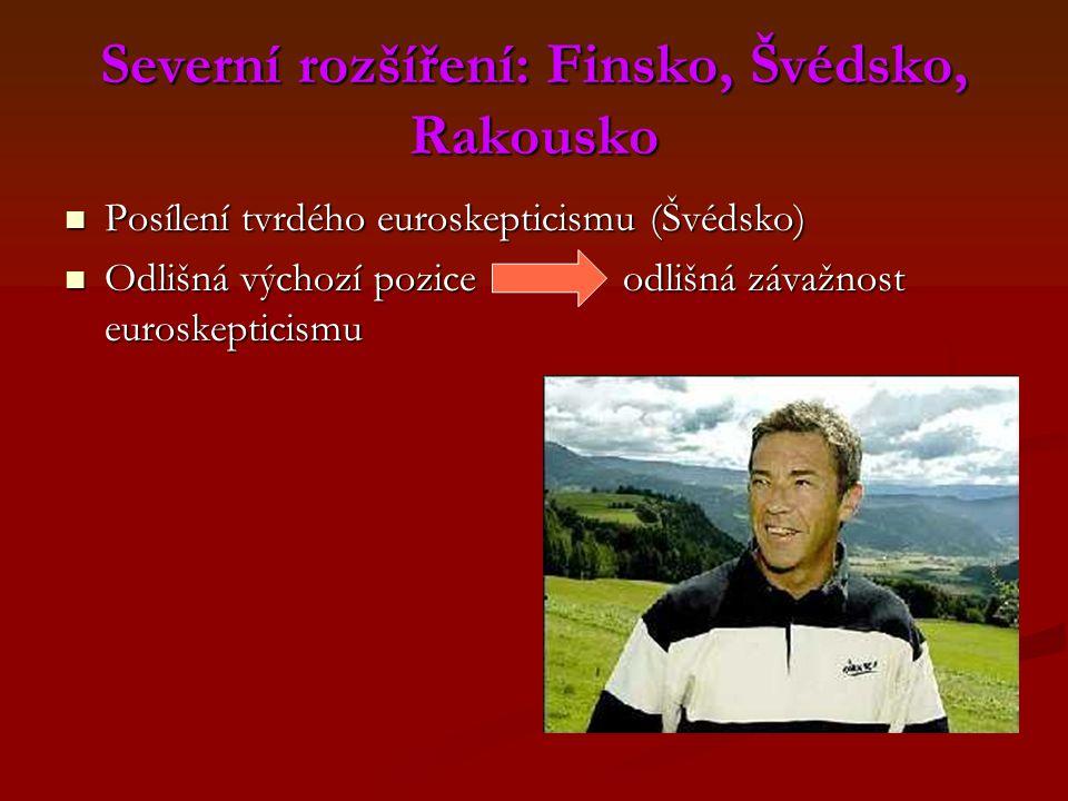 Severní rozšíření: Finsko, Švédsko, Rakousko